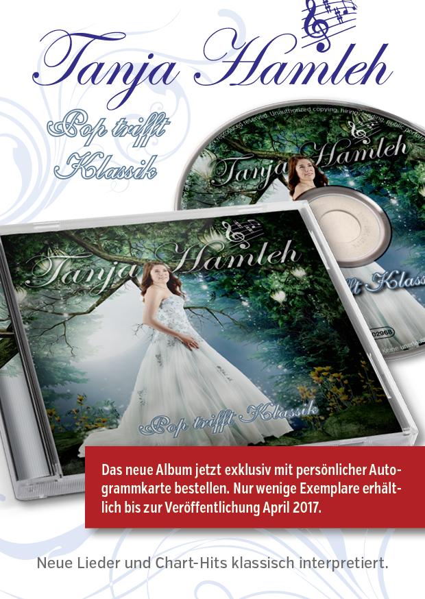 """Tanja Hamleh - Albumflyer - """"Pop trifft Klassik"""""""